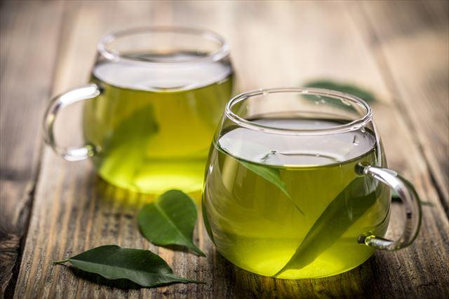 茶葉入り緑茶の画像